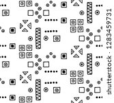 seamless vector geometrical... | Shutterstock .eps vector #1283459731