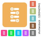 fine tune flat icons on rounded ... | Shutterstock .eps vector #1283465941