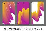 set fashionable abstract... | Shutterstock .eps vector #1283475721