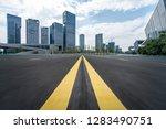 panoramic skyline and modern... | Shutterstock . vector #1283490751