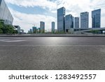 panoramic skyline and modern... | Shutterstock . vector #1283492557