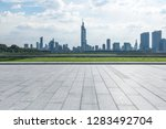 panoramic skyline and modern... | Shutterstock . vector #1283492704