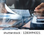 business analysis and... | Shutterstock . vector #1283494321