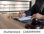 law  lawyer attorney and... | Shutterstock . vector #1283495494