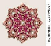 vintage  jewellery mandala...   Shutterstock .eps vector #1283498017