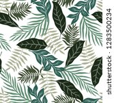 tropical background with palm... | Shutterstock .eps vector #1283500234