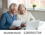happy mature couple retiree... | Shutterstock . vector #1283501734