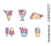 vector set design colorful... | Shutterstock .eps vector #1283502277
