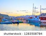 eilat at sundown  israel   Shutterstock . vector #1283508784