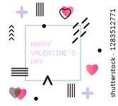 gradient futuristic valentine s ...   Shutterstock .eps vector #1283512771