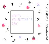 gradient futuristic valentine s ...   Shutterstock .eps vector #1283512777