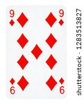 nine of diamonds playing card   ... | Shutterstock . vector #1283513827