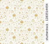 birthday party seamless pattern ... | Shutterstock .eps vector #1283514454