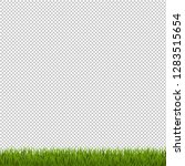 green grass border transparent...   Shutterstock .eps vector #1283515654