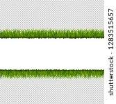 green grass border transparent... | Shutterstock .eps vector #1283515657