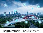 5g network wireless systems and ... | Shutterstock . vector #1283516974