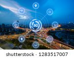 5g network wireless systems and ... | Shutterstock . vector #1283517007