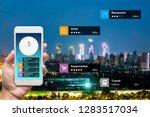 navigation information... | Shutterstock . vector #1283517034