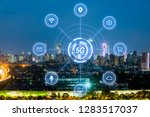 5g network wireless systems and ... | Shutterstock . vector #1283517037