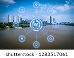 5g network wireless systems and ... | Shutterstock . vector #1283517061