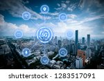 5g network wireless systems and ... | Shutterstock . vector #1283517091