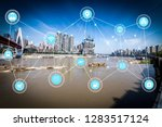 5g network wireless systems and ... | Shutterstock . vector #1283517124