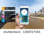 navigation information... | Shutterstock . vector #1283517181
