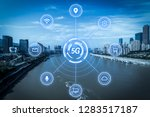 5g network wireless systems and ... | Shutterstock . vector #1283517187