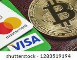 visa  mastercard credit cards ... | Shutterstock . vector #1283519194