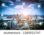 5g network wireless systems and ... | Shutterstock . vector #1283521747