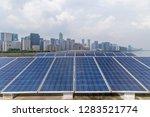 solar and modern city skyline  | Shutterstock . vector #1283521774