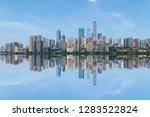 modern panoramic skyline of... | Shutterstock . vector #1283522824