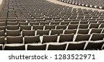 chair stadium with row empty... | Shutterstock . vector #1283522971