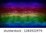 empty multicolored wooden... | Shutterstock . vector #1283522974