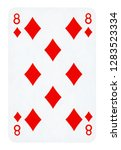 eight of diamonds playing card  ... | Shutterstock . vector #1283523334