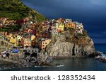 colorful houses of cinque terre'... | Shutterstock . vector #128352434