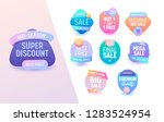 sale offer geometric colorful... | Shutterstock .eps vector #1283524954