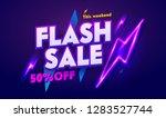 flash sale neon light... | Shutterstock .eps vector #1283527744