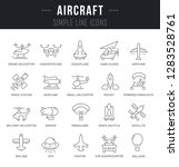 set of outline signs and... | Shutterstock . vector #1283528761