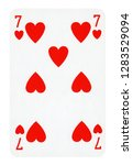seven of hearts playing card  ... | Shutterstock . vector #1283529094
