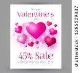 happy valentine's day design... | Shutterstock .eps vector #1283529337