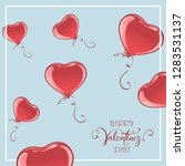 red valentine balloons in the... | Shutterstock .eps vector #1283531137