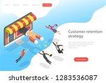 flat isometric vector landing... | Shutterstock .eps vector #1283536087