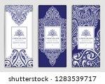 luxury blue packaging design of ... | Shutterstock .eps vector #1283539717