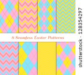 Easter Backgrounds. 8 Seamless...