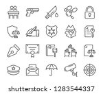 set of justice icons  such as ...