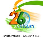 happy republic day poster  or... | Shutterstock .eps vector #1283545411