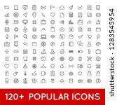 120 popular icons set for all... | Shutterstock .eps vector #1283545954