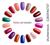 nail polish palette isolated on ... | Shutterstock .eps vector #1283546737