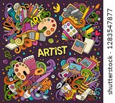 colorful vector hand drawn... | Shutterstock .eps vector #1283547877